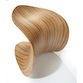 Wooden Sculpted Leaf Stool ODEChair Jolyon Yates