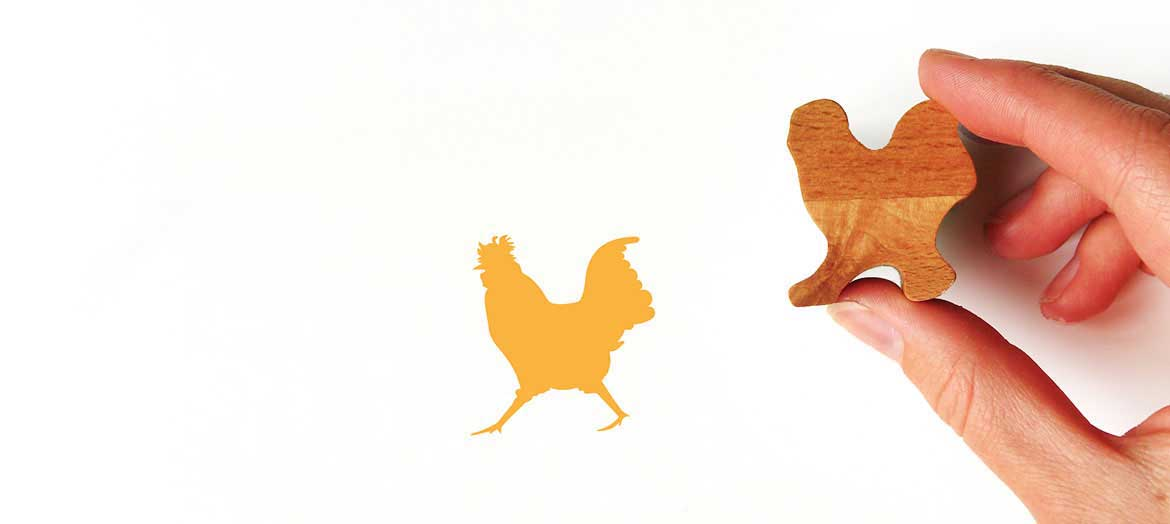 Wooden Animal Stamps
