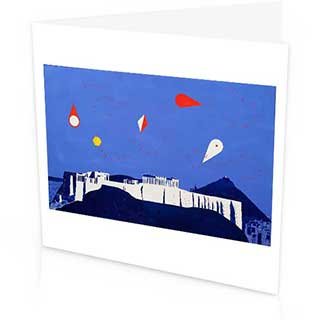 Kites over the Akropolis Greetings Card, Peter Yates 1978