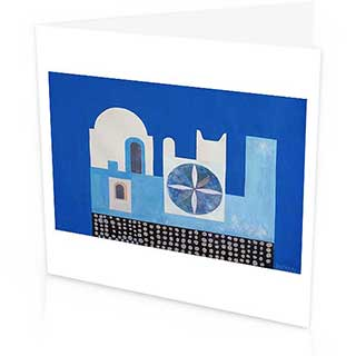 Santorini Greetings Card, Peter Yates 1960