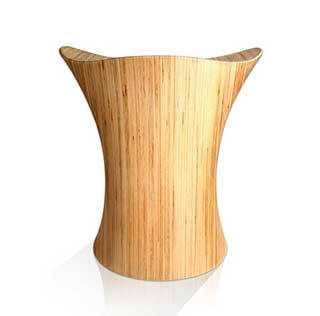 Stingray Stool, Classic Wooden Stool