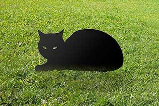 Cat Garden Sculpture, Metal Gardener Gift
