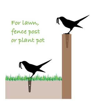 Garden Bird Lawn Ornament Yard Art, Perfect Gardener Gift