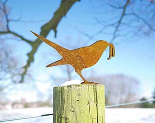 Bird Yard Art, The Early Bird Rusty