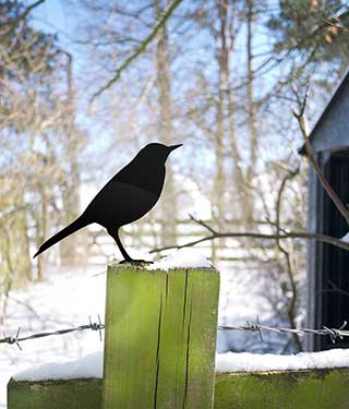 Bird Garden Ornament, Starling Yard Art
