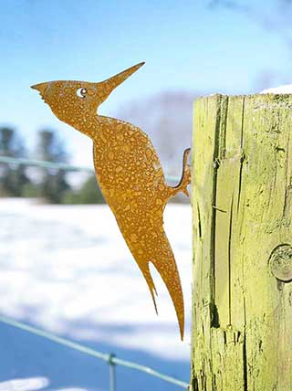 Woodpecker Rusty Yard Art