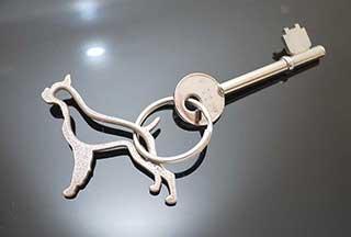 Dog Keychain, Dog Keyring