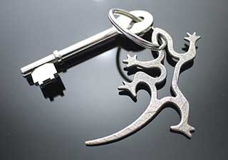 Gecko Keychain, Lizard Keyring