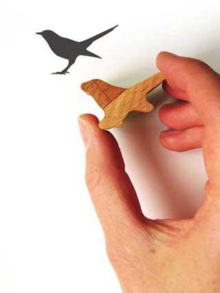 Blackbird Rubber Stamp