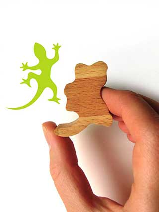 Gecko Rubber Stamp