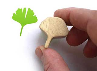 Gingko Leaf Rubber Stamp