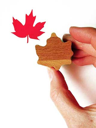 Maple Leaf Rubber Stamp