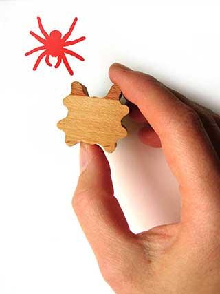 Spider Stamp, Wooden Handled Rubber Stamp