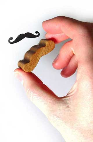 Moustache Rubber Stamp