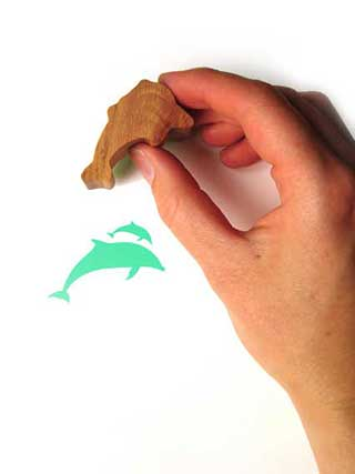 Dolphins Rubber Stamp