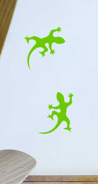 Geckos (Set of 4) Window or Wall Sticker Decals  sc 1 st  ODEChair & Gecko Wall Stickers
