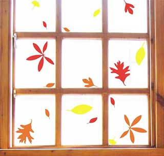 Autumn Leaves Stickers, Window, Floor or Wall Leaf Stickers