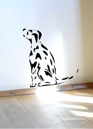 Spotty Dog Wall Sticker, Dalmatian Puppy Decal