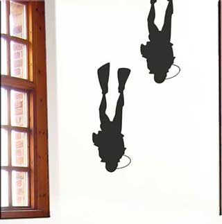 Diver Wall Stickers