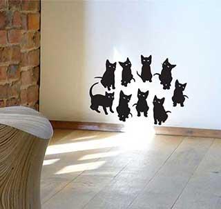 Cutie Kittens Cat Wall Stickers