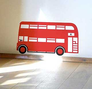 Red London Bus Wall Sticker