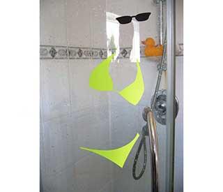 Bikini Wall Stickers, Fun Bathroom Decals