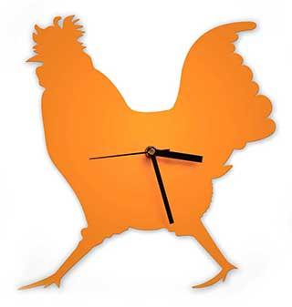 Cockerel Wall Clock, Strutting Chicken Ticker
