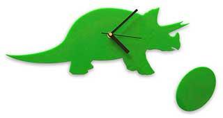 Dinosaur Clock, Green Dino Wall Clock
