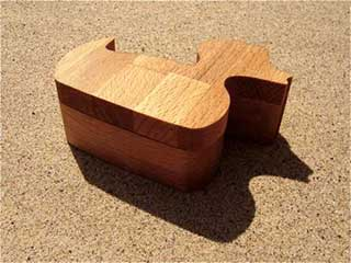 Duck Jewelry Box, Wooden Keepsafe