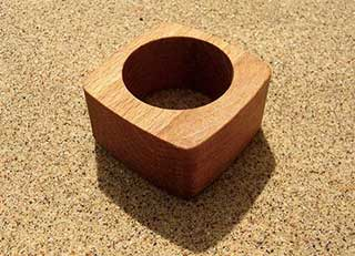 Wooden Napkin Rings, 2 Squared Circle