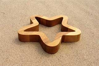 Star Wooden Hot Plate Trivet