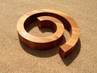 Spiral Wooden Hot Plate Trivet