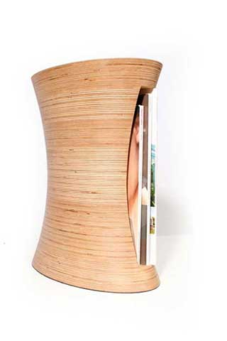 Magazino Magazine Stand, Sculpted Birch