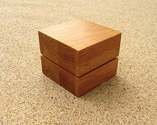 Cube Wooden Ring Box