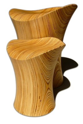 Wooden Stingray Stool Junior with Classic Copyright ODEChair Jolyon Yates
